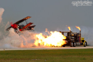 Skip Stewart and Shockwave Jet Truck - Cleveland Airshow 2014