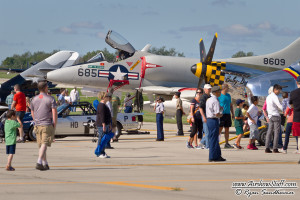 Aircraft on Display - Wings Over Waukegan Airshow 2014