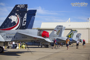 F-18 CAG Hornets - NAS Oceana Airshow 2014