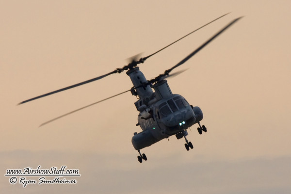 USMC CH-46 Sea Knight Helicopter