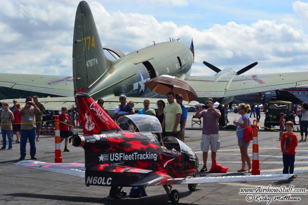 C-46 and FLS Microjet - Winston-Salem Airshow 2014