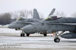 F-18 Hornets preparing for the flyover in Green Bay